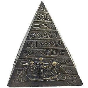 Piramide Isis Hieroglifos - Dourada