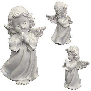 Anjo Branco Orando Resina