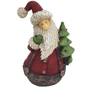 Papai Noel segurando Árvore de Natal
