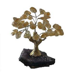 Árvore da vida citrino com base ametista