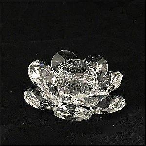Flor de Lótus Vidro Cristal