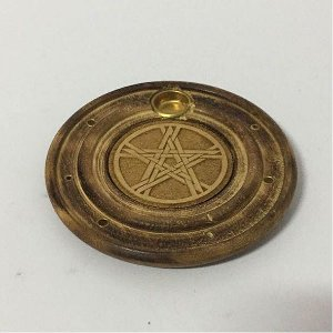 Incensário de madeira pentagrama 6 incensos