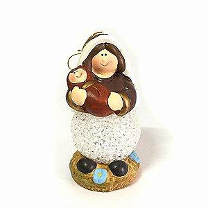 Maria com Menino Jesus com LED