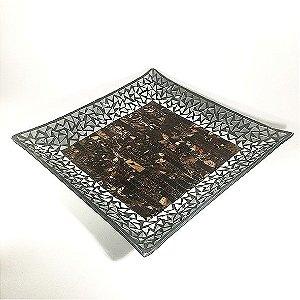Bandeja quadrada mosaico