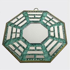 Baguá de Vidro Espelhado verde