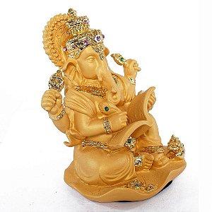 Ganesha Dourado de Resina