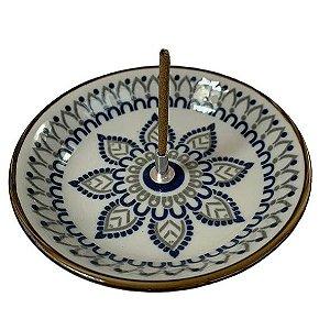 Incensário Redondo de Cerâmica