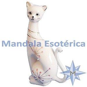 Gato Sentado Cerâmica Esquerda