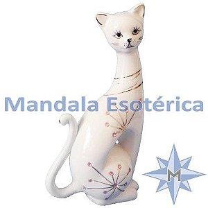 Gato Sentado Cerâmica - Direita