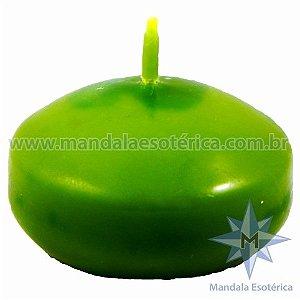 Vela flutuante oval verde