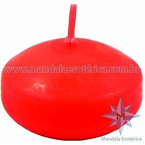 Vela Flutuante oval vermelha