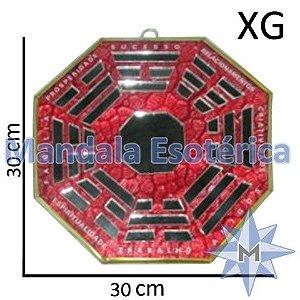 Bá-guá Espelhado Vermelho Extra Grande