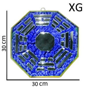 Bá-guá Espelhado Azul Extra Grande