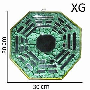 Bá-guá Espelhado Verde Extra Grande
