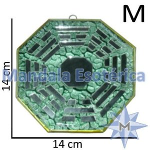 Bá-gua Vidro Espelhado Verde Médio