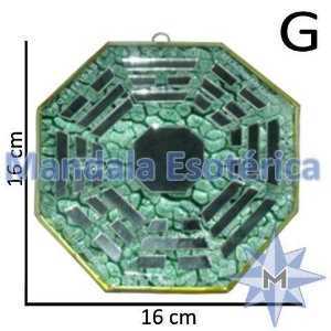 Baguá de Vidro Espelhado Verde Grande