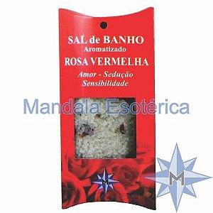 Sal de Banho Aromatizado - Rosa Vermelha - 100g