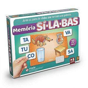 Jogo da memoria Silabas 20 Premios