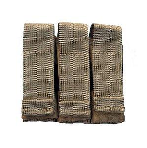 Porta Carregador de Pistola Modular Triplo TAN - WWART TACTICAL