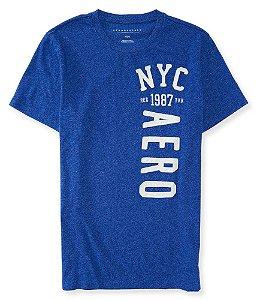 Camisa Aeropostale masculina Vertical Aero NYC Logo Graphic