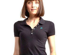 Camisa Polo Aeropostale Feminina A87 Solid Logo Piqué