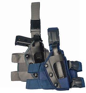Coldre tático de perna Universal - Cinza ou Azul