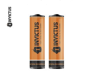 Bateria Recarregável Invictus 14500 - 2 Unidades