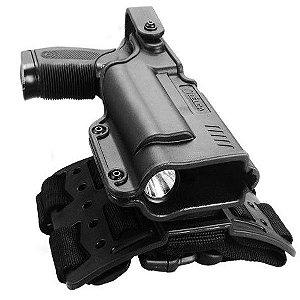 Coldre de polímero Bélica BLACK LIGHT II - Para Pistolas com Lanterna
