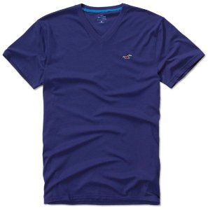 Camisa Hollister Gola V Azul