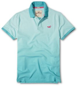 Polo Hollister Masculina degradê 2018 Azul
