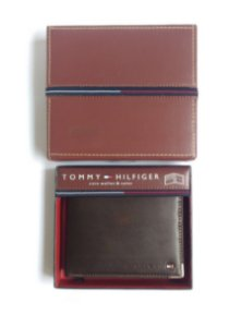 Carteira Tommy Hilfiger Masculina bifold marrom