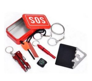 Kit Sobrevivência SOS selva escoteiro Emergência