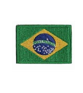 Patch Bandeira do Brasil Bordado Colorido - Item Grátis