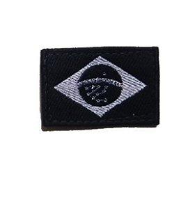 Patch Bandeira do Brasil Bordado PB - Item Grátis