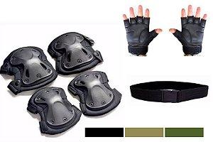 KIT Proteção Tática Completo - Militar Segurança Airsoft