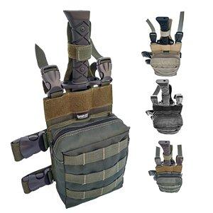 Kit Bornal Modular com Bainha + Faca Rambo Baioneta sobrevivência