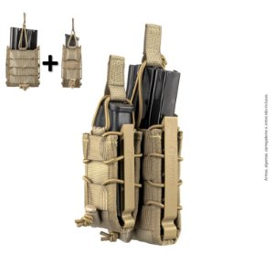 KIT Porta Carregador de Pistola + Fuzil Invictus Reload TAN