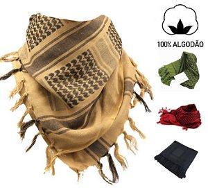 Shemagh Lenço Militar Àrabe - 100% Algodão