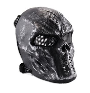 Mascara Full face caveira Black Skull