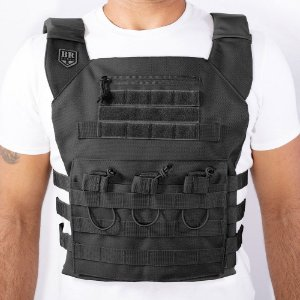Plate Carrier BR Force Couraça Gladiador Preto