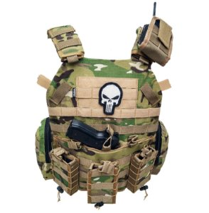 Colete Tático Plate Carrier Multicam WWART SHOOTER 2.0