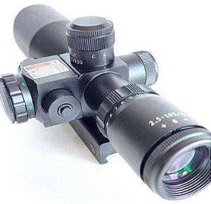 Luneta  2,5-10x40E Compact Scope com Retículo Iluminado + Laser Sight