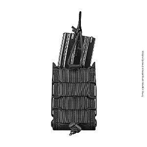 Porta Carregador de Fuzil Modular Preto Invictus Reload 5.56