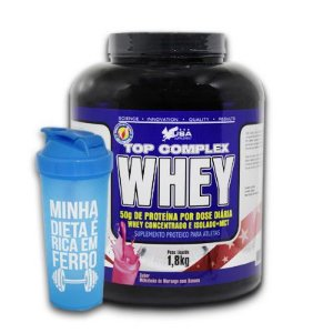 Top Complex Whey USA Supplement 1800g Grátis Coqueteleira
