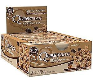 QuestBar Barra de Proteínas Quest Nutrition Oatmeal Chocolate Chip 12 Unidades