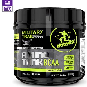 Amino Tank BCAA Military Trail Midway Sabor Limonada 300g