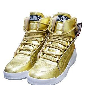 Tênis Sneakers Labellamafia 60130 Dourado