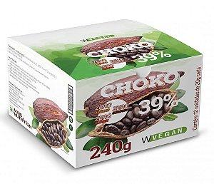 Choko Vegan 39% Chocolate Vegano WVegan 12 Unidades