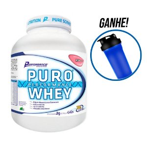 Puro Performance Whey Performance Nutrition 2000g Brinde Coqueteleira 600ml