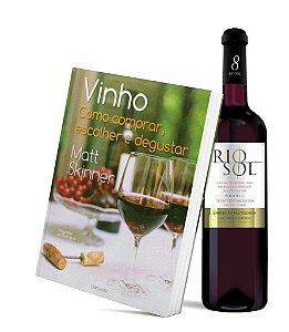 Kit Livro Vinho: Como comprar, escolher e degustar + Vinho Rio Sol Cabernet Sauvignon